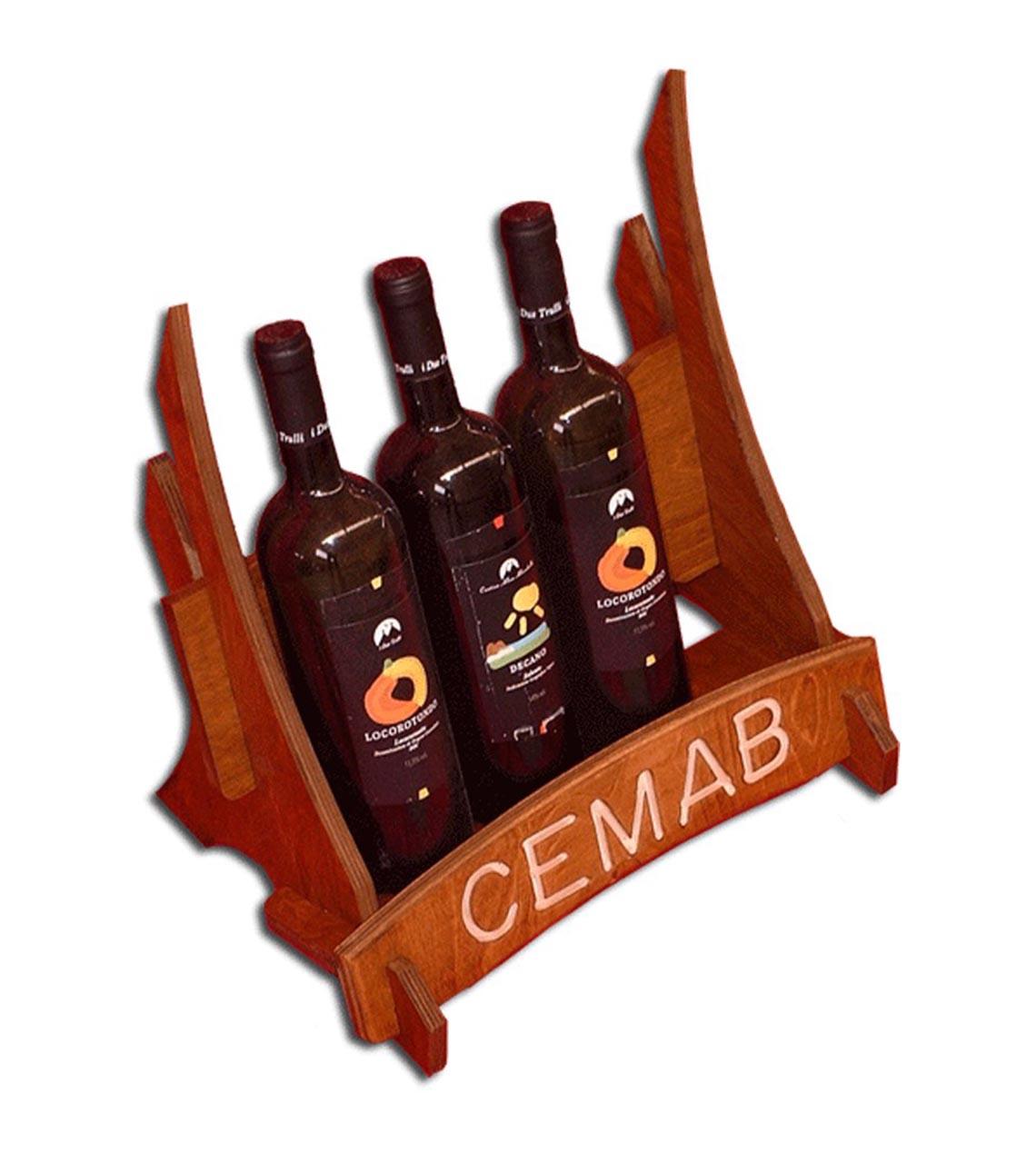 Espositore in Legno per Bottiglie di Vino
